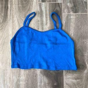 Women's Topshop crop top - blue